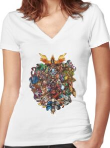 The Heroes - DOTA 2 Women's Fitted V-Neck T-Shirt