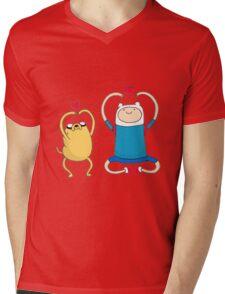 Jake and Finn Mens V-Neck T-Shirt