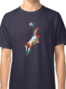 Colorful splash soccer goal keeper Classic T-Shirt