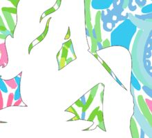Lilly Pulitzer Inspired Mermaid - Lovers Coral Sticker