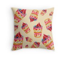 Watercolor Ice Cream Throw Pillow