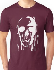 Splatter Skull (white) Unisex T-Shirt