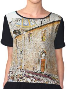 L'Aquila: collapsed church and rubble Chiffon Top