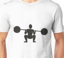 Weight lifting sport silhouette Unisex T-Shirt