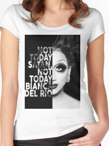 Bianca Del Rio Text Portrait Women's Fitted Scoop T-Shirt