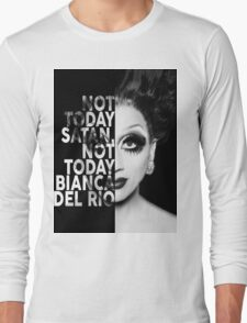 Bianca Del Rio Text Portrait Long Sleeve T-Shirt