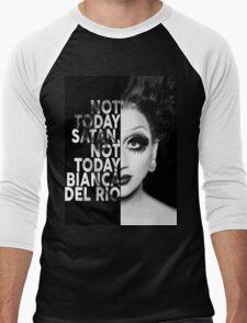 Bianca Del Rio Text Portrait Men's Baseball ¾ T-Shirt