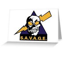 SAVAGE RAMBO HAVOC Greeting Card