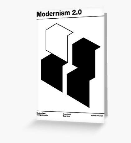 Modernism 2.0 (b) Greeting Card