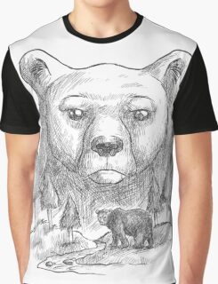 Bear and forest Graphic T-Shirt