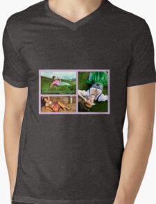 Bavarian Style Mens V-Neck T-Shirt