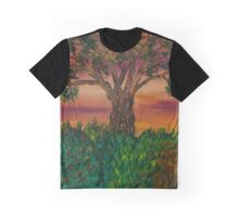 Bottle Brush Tree at sunset Graphic T-Shirt