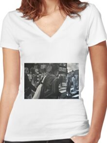 Amsterdam wibe, 2012, 120-80cm, oil on canvas Women's Fitted V-Neck T-Shirt