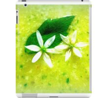 Asparagus and basil soup with wild garlic flowers iPad Case/Skin