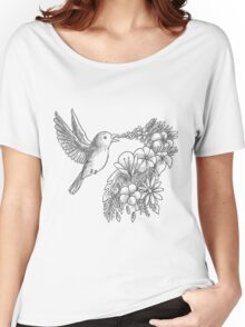 Lovely bird with flowers Women's Relaxed Fit T-Shirt