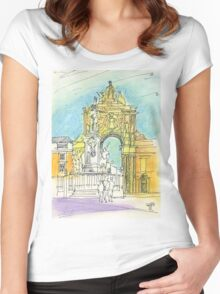 Terreiro do Paço. Women's Fitted Scoop T-Shirt