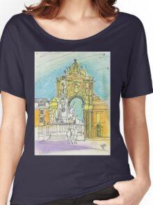 Terreiro do Paço. Women's Relaxed Fit T-Shirt