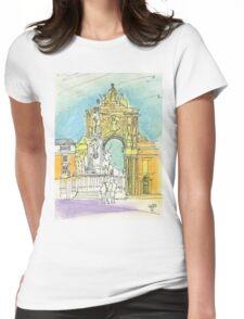 Terreiro do Paço. Womens Fitted T-Shirt