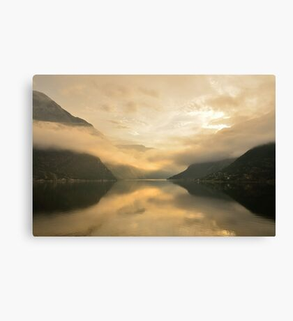 Fjord Mist Canvas Print