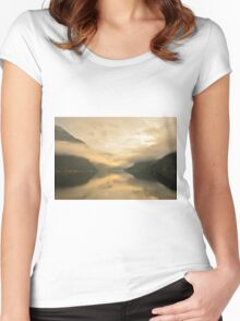Fjord Mist Women's Fitted Scoop T-Shirt