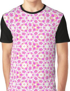 Pink Girl Pattern Graphic T-Shirt