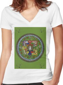 Tibetan Healing Women's Fitted V-Neck T-Shirt