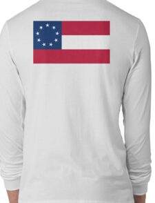 Stars & Bars, USA, America, First American National Flag, 9 stars, 1861 Long Sleeve T-Shirt
