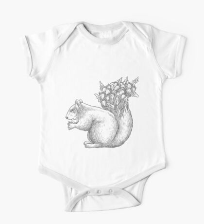 Squirrel with acorns in the tail One Piece - Short Sleeve