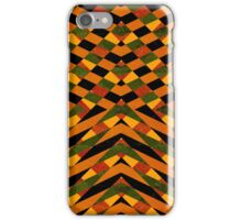 Black and orange striped pattern iPhone Case/Skin