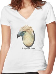 Philippine eagle Women's Fitted V-Neck T-Shirt
