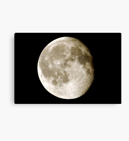 cratered moon Canvas Print