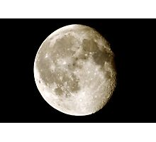 cratered moon Photographic Print