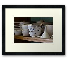 Abandoned Science Lab Porcelain Testing Equipment  Framed Print