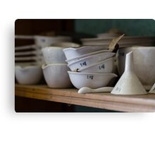 Abandoned Science Lab Porcelain Testing Equipment  Canvas Print