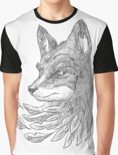 Wolf with leaves Graphic T-Shirt