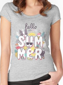 Hello Summer Women's Fitted Scoop T-Shirt