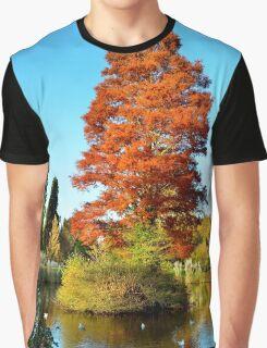 Tree and Lake Graphic T-Shirt