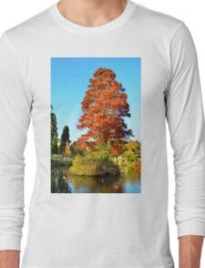 Tree and Lake Long Sleeve T-Shirt