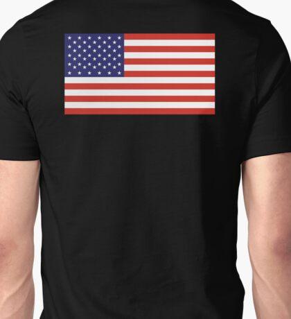 American Flag, America, Stars & Stripes, USA, Americana, Pure & Simple, on BLACK Unisex T-Shirt