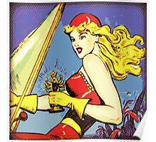 Comic Girl - 2 Pop Poster