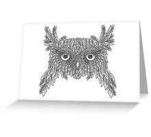 Owl made up of leaves Greeting Card