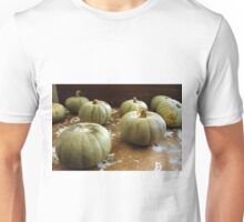 On the shelf: sad pumpkins Unisex T-Shirt