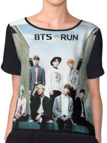 BTS Run Chiffon Top