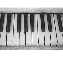 Old piano Photographic Print