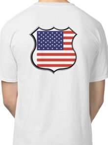 SHIELD, America, American, Stars & Stripes, USA, Americana, Pure & Simple, on WHITE Classic T-Shirt