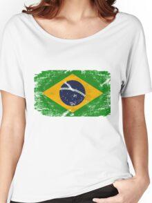 Brazil Vintage Flag Women's Relaxed Fit T-Shirt