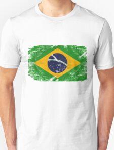 Brazil Vintage Flag Unisex T-Shirt