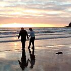 Touching our feet in the Irish Sea at St Bees, Cumbria, UK. by GeorgeOne