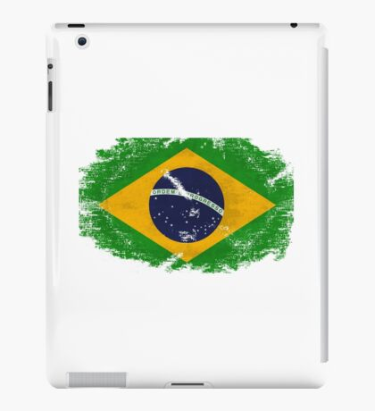 Brazil Vintage Flag iPad Case/Skin