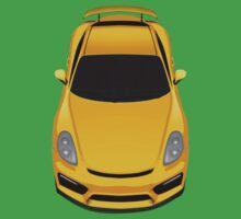 Porsche cayman GT4 (yellow) Kids Tee